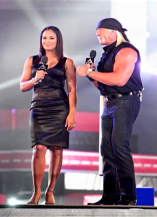Image: Laila Ali and Hulk Hogan