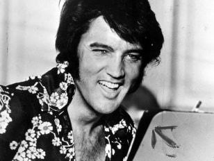 Image: Elvis in 1975.