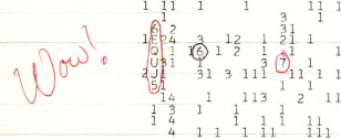 Image:  'Wow' signal