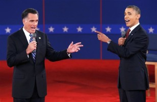 Image: Mitt Romney and Barack Obama