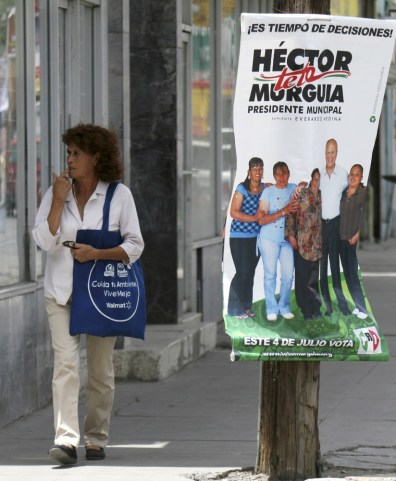 Image: Election poster in Ciudad Jaurez