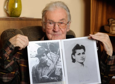 Image: 66 years ago Jerzy Bielecki, then an Auschwitz Birkenau prisoner, escaped from the death camp with his Jewish girlfriend, Cyla Cybulska