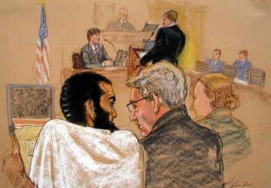 Image: Courtroom sketch of Omar Khadr