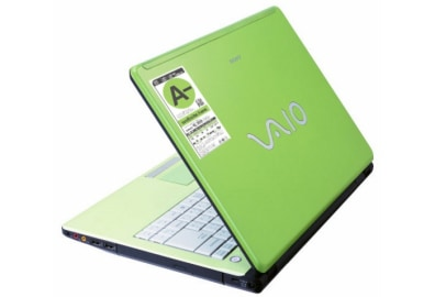Image: Sony Vaio with 'green' ratings sticker