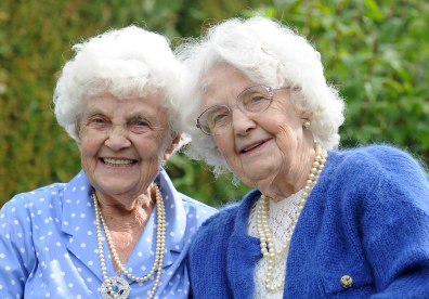 Image: Ena Pugh, right, and Lily Millward