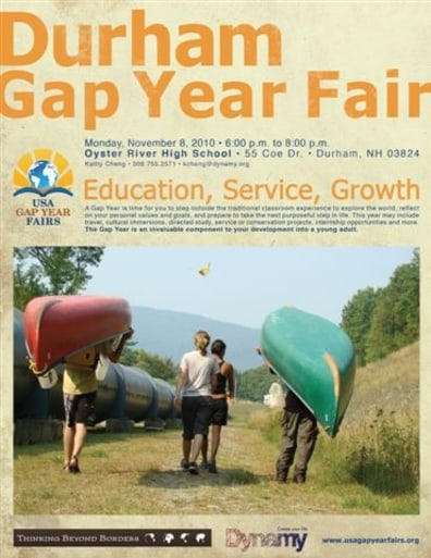 Image: Gap year flier