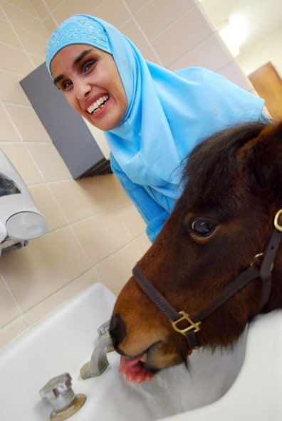 Image: Mona Ramouni and her guide horse