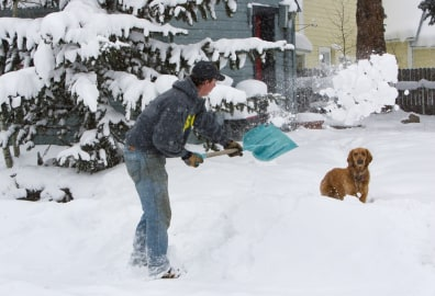 Image: Shoveling out in Colorado