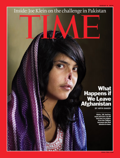 Image: Aisha on Time magazine's cover