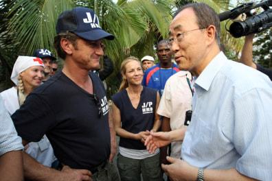 Image: Sean Penn and Ban Ki-moon