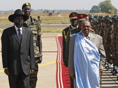 Image: South Sudan's President Salva Kiir and Sudan