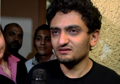 Image: Wael Ghonim talking with microphone
