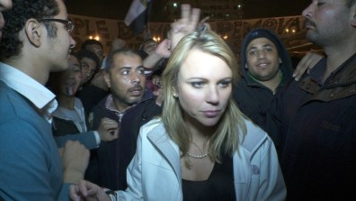 Image: CBS Correspondent Lara Logan in Cairo