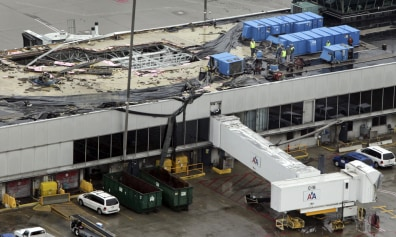 Departures Resume At Mo Airport Hit By Tornado Weather