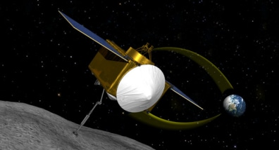 Image: Artist's interpretation of NASA's asteroid-sample mission OSIRIS-REx