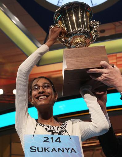 Image: Sukanya Roy wins Spelling Bee