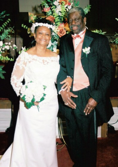 Image: Amerah Henrene Shabazz-Bridges and B.C. Bridges at their wedding