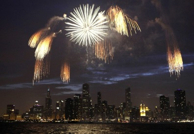 Image: Fireworks over Chicago