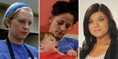 "Image: Aubrey, Jenelle, Amber from ""Teen Mom"""