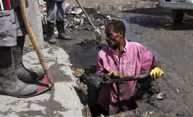 Image: Drain cleared out in Port-au-Prince