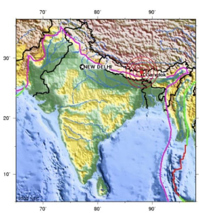 Image: Epicenter of Sept. 18 quake in India