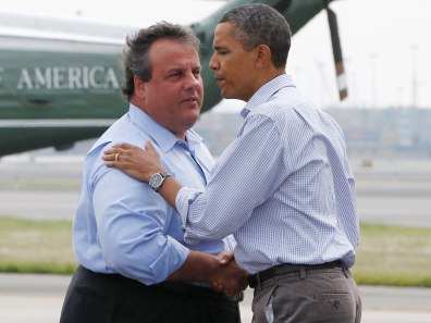 Image: Chris Christie and Pres. Barack Obama