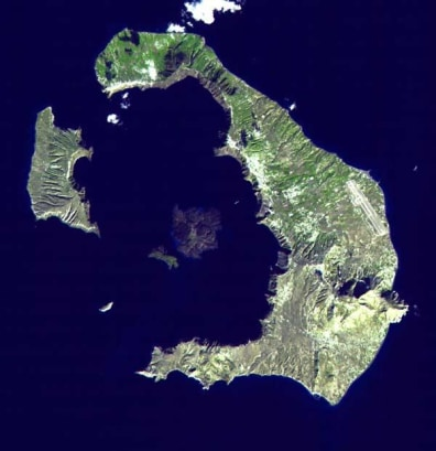 Image: Volcanic island of Santorini