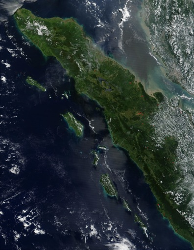 Image: Sumatra, as seen from space