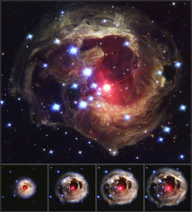 Image: Stellar outburst of V838 Monocerotis in 2002