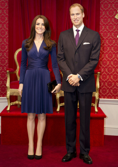 Kate & William at Madame Tussauds, London