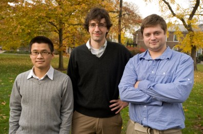 Image: Rutgers graduate students  Mark Lee, Nicholas Beckstead and Tim Campell
