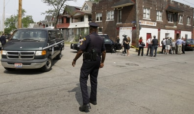 Image: Jurors leave the scene after visiting Anthony Sowell's home in Cleveland