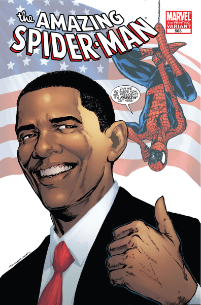 Barack Obama in Amazing Spider-Man 583