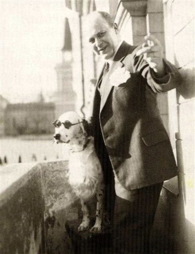 Image: Tor Borg and his dog Jackie