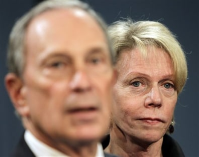 Image: Cathie Black, Mike Bloomberg