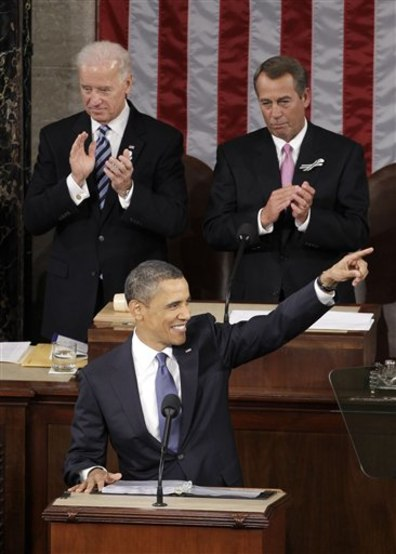 Image: President Barack Obama, House Speaker John Boehner and Vice President Joe Biden