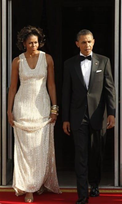 Image: Michelle Obama, left, and Barack Obama
