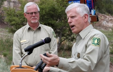 Image: Forest Service officials speak on fire outlook