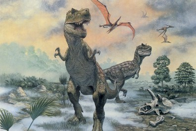 Image: Two T. rex adults illustration