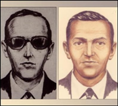 Image: FBI sketch of D.B. Cooper