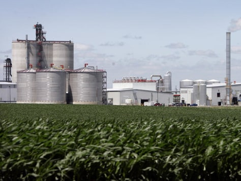 IMAGE: CORN FIELDS AND ETHANOL PLANT