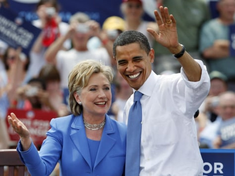 Image: Clinton and Obama