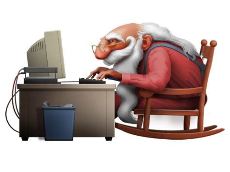 Image: Illustration of Santa shopping online