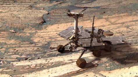 Image: A digital model of the Opportunity rover