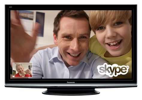 Image: Skype on Panasonic TV
