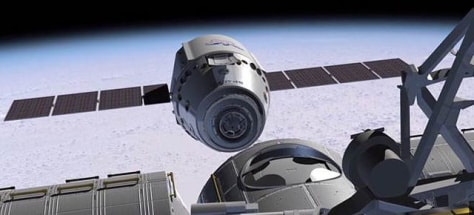 Image: Artist's rendition of SpaceX's Dragon spacecraft