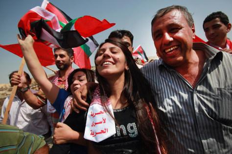 Image: Freed Palestinian woman