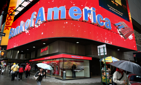 Image: glowing Bank of America marquee