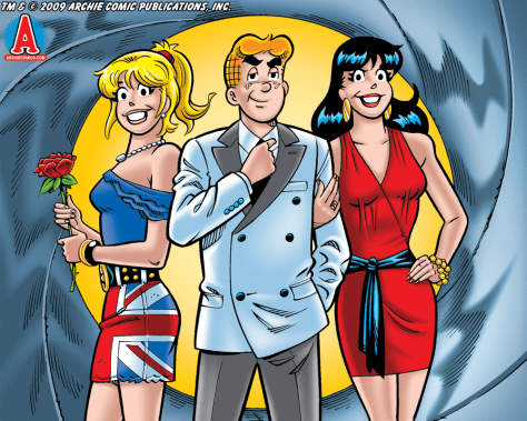 Image: Betty, Archie Andrews, and Veronica