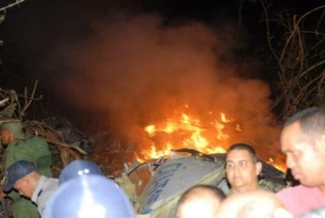 Image: Cuba plane crash site